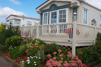 Attractive Static Caravan Decking and Veranda