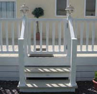 Static Caravan Decking Gates, Steps and Ramps