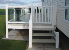Satatic Caravan Vinyl Plastic Upvc Decking Veranda Steps