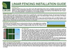 Liniar Fencing Installation Guide
